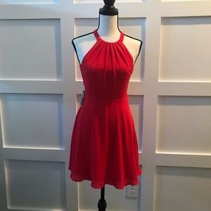 New Express Red Party Dress